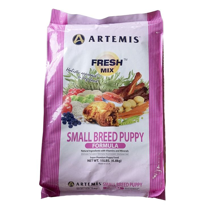 ARTEMIS 133003 Fresh Mix Small Breed Puppy Food, 15-Pound * Check out this great image  : Dog food types