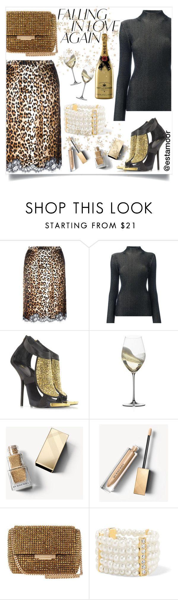 """gold"" by estamoor on Polyvore featuring мода, Givenchy, Proenza Schouler, Giuseppe Zanotti, Riedel, Burberry, Karen Millen и Anissa Kermiche"