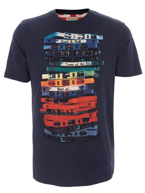 T-shirt męski  granatowy  - SPO2415 t-shirt krótki rękaw - TOP SECRET - Odzieżowy sklep internetowy TOP SECRET