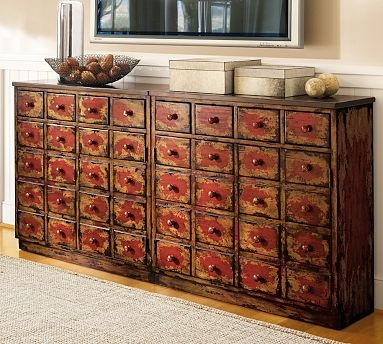 Want all these little tiny drawers for stuff!Apothecaries Media, Art Crafts, Elle Decor, Barns Apothecaries, Apothecaries Chest, Media Cabinets, Drawers, Apothecaries Cabinets, Pottery Barns