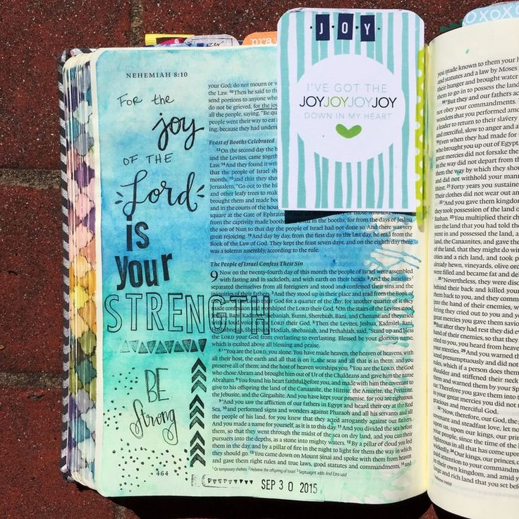 Bible journaling, Nehemiah 8:10 — Arden Ratcliff-Mann #illustratedfaith