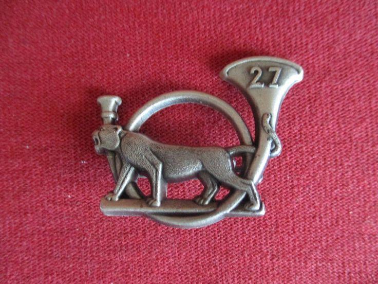 INSIGNE BERET 27 ème BATAILLON CHASSEURS ALPINS BOUSSEMART TIGRE MARCHANT | Collections, Militaria, Insignes | eBay!