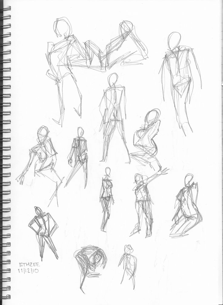 Gesture Drawing Poses Generator Page 1