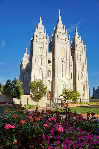 Mormon Temple Square in Downtown Salt Lake City, Utah.  I've been there. It's beautiful.