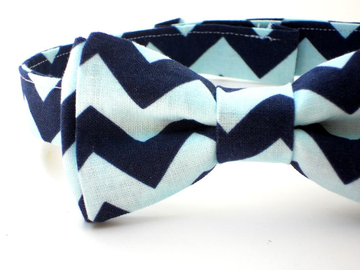 Bow tie for babies first birthday outfit, chevron bow tie, boys cake smash outfit, blue bow tie, gray bow tie, toddler bow tie, kids bow tie