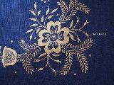 Haft kujawski - bieżnik ręcznie haftowany, chabrowy 100x49 cm (kz-2)