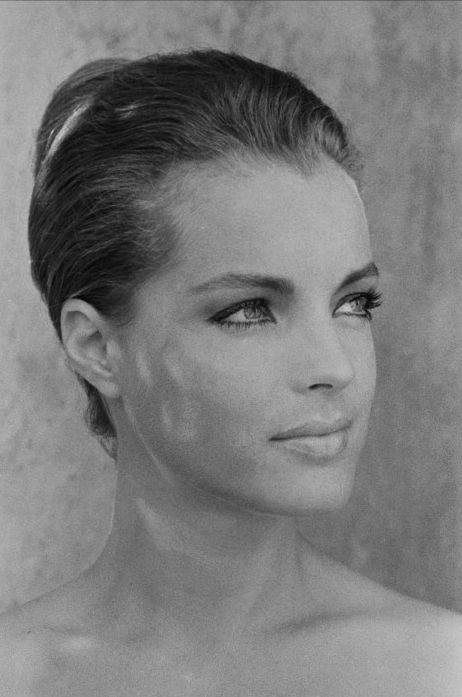 Romy Schneider (23 September 1938 – 29 May 1982) was an Austrian-born film actress who held German and French citizenship. She started her career in the German Heimatfilm genre in the early 1950s when she was 15. From 1955 to 1957 she played the central character of Empress Elisabeth of Austria in the Austrian Sissi trilogy
