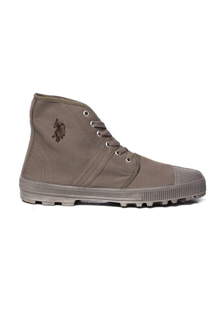U.S. Polo zapatos Tenis altas - Composición: 100% algodón - interior: tela - suela de goma (High-top sneakers unisex-Composition: 100% cotton - internal tissue- rubber sole)