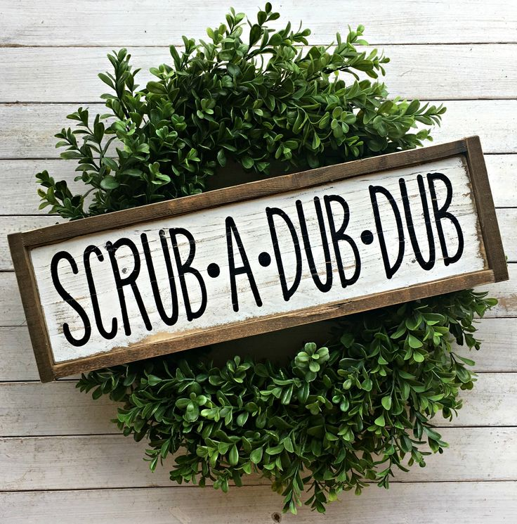 Scrub A Dub Dub | Pallet Sign | Bathroom Sign | Farmhouse Bathroom | Kids Bathroom | Rustic Bathroom | Wood Sign by EMPalletDesigns on Etsy https://www.etsy.com/listing/509778383/scrub-a-dub-dub-pallet-sign-bathroom