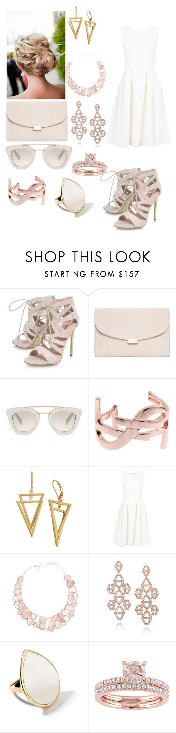 """Untitled #115"" by hannahbrownie13 on Polyvore featuring Carvela, Mansur Gavriel, Prada, Yves Saint Laurent, ADAM, Poppy Jewellery, Walters Faith and Ippolita"