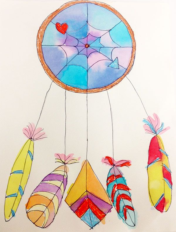 Dreamcatchers artsmudge   Art for Small Hands