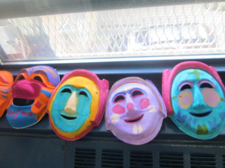 Paint your own masks to wear throughout the day!