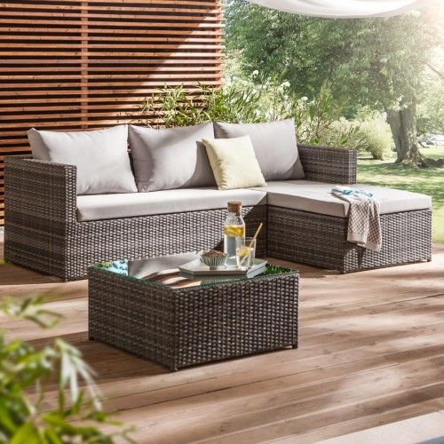 7 best Gartenlounge images on Pinterest Canapes, Couches and Settees - gartenmobel polyrattan grau