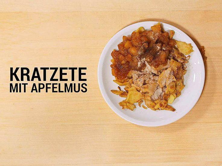 Ein Klassiker aus Baden:  Kratzete mit Apfelmus     Foto: Falko Wehr