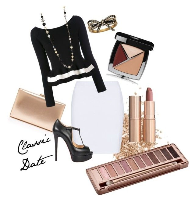 """""""Elegant Date"""" by andrealorena-7879 ❤ liked on Polyvore featuring Topshop, Doris Streich, Blugirl, Christian Louboutin, Chanel, Urban Decay, Charlotte Tilbury and Marc Jacobs"""