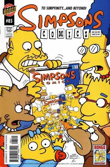 Simpsons Comics 85 Marg Homer Bart Lisa Maggie