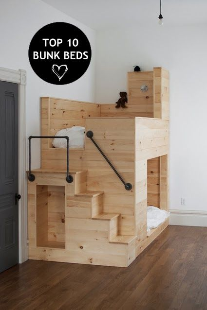Ideas For Tiny House Sleeping. I Canu0027t Do Ladders But These Small Steps  Would Be Great   {Interiors} Top 10 Coolest Kids Bunk Beds