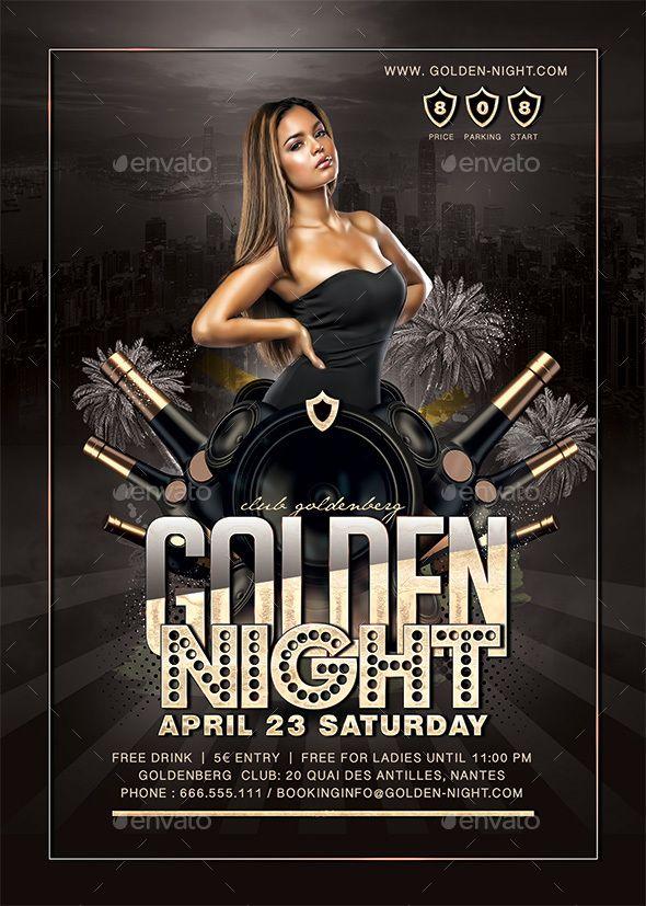 Golden Night Party Golden Night Party Night Party Flyer