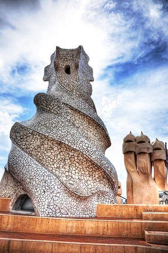 Architecture... sculpture... Gaudí's art. Casa Milá, Barcelona.