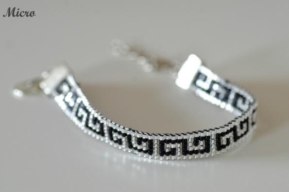 bracelet tissé géométrique
