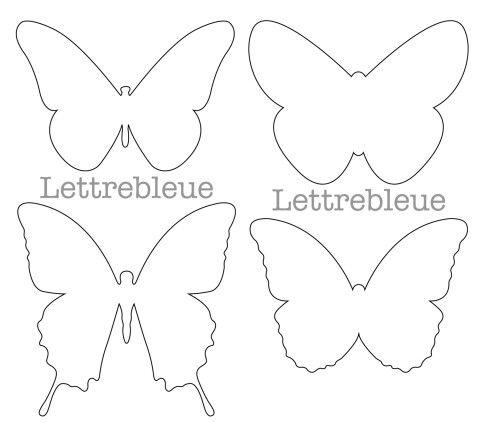 1487 gabarits papillon