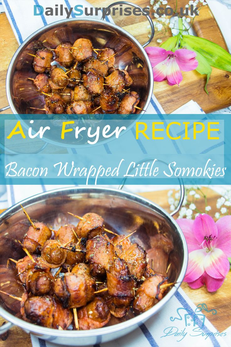 Crispy bacon wrap soft and juicy sausage, if you are a bacon lover, you would love this!