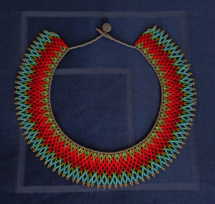 Collar / Gargantilla mexicana color Turquesa y por LucianaLavin