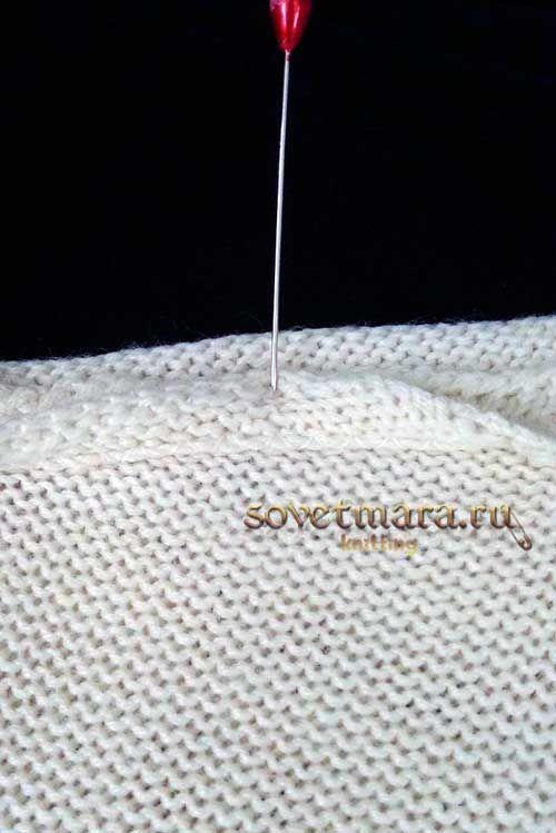 Усилитель для плечевого шва. Обработка плечевых швов на вязаном изделии