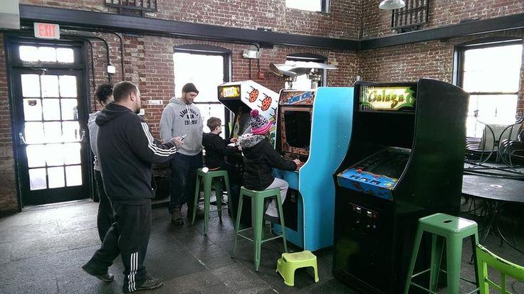 Bit Bar - Salem, MA - for an arcade bar built on the site of an old jail