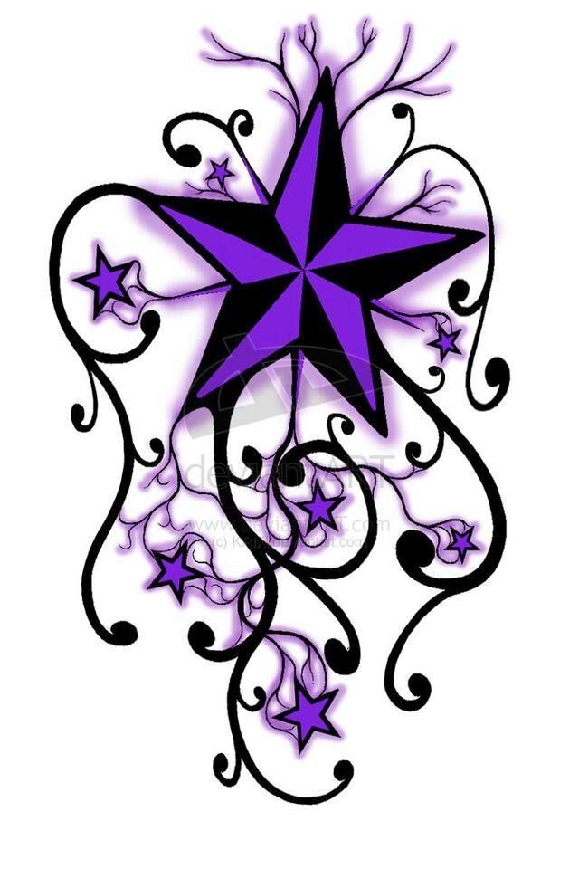 Purple stars.....nice tattoo idea