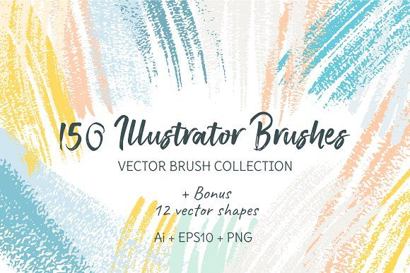150 Illustrator Brushes By Northernlight Studio On Creativemarket