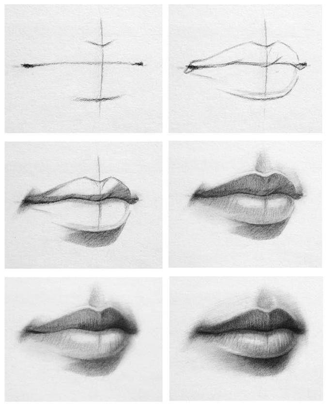 Lippen malen.