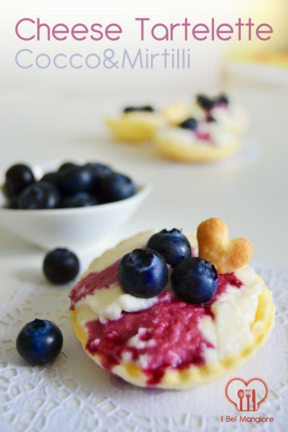 Cheese Tartelette cocco & mirtilli #tartelette #cake #cheesecake