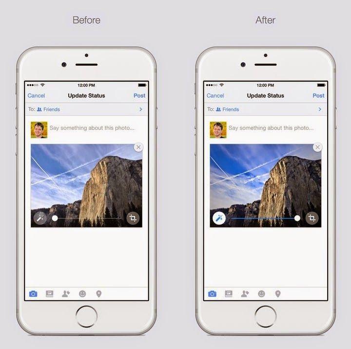 Facebook meluncurkan fitur auto enchanment di iOS