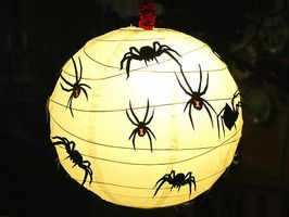 How to Decorate Paper Lanterns for Halloween : Home Improvement : DIY NetworkHalloween Projects, Halloween Paper, Paper Lanterns, Spiders Lanterns, Decor Paper, Diy Halloween Decor, Halloween Ideas, Diy Network, Home Improvements