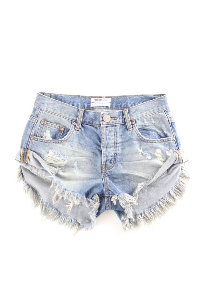 One Teaspoon Bandits | The Rollin' J | distressed | super frayed | cut off jean shorts | Summer | Spring | festival | boutique | style | therollinj.com