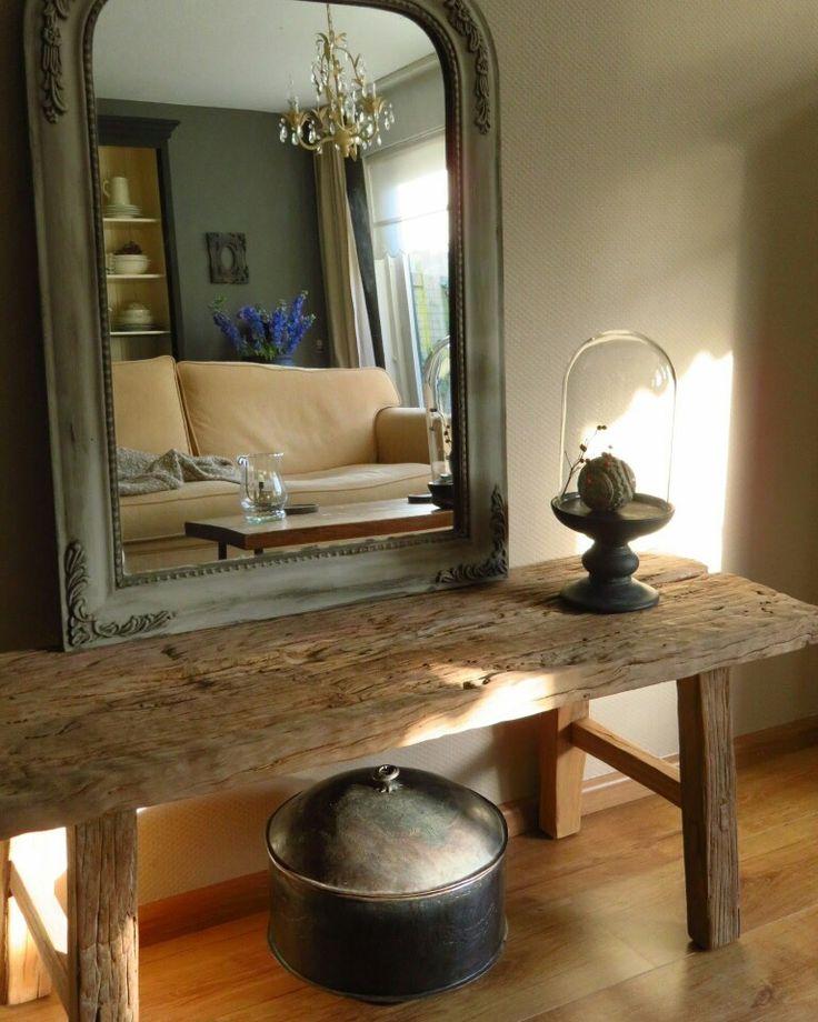 25 best ideas about houten spiegel op pinterest spiegels houten meubelen en boomstam - Spiegel in de woonkamer ...
