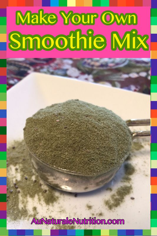 Make your own smoothie powdered mix using whole-food based supplements.  Enjoy it every day!  Make green vegetable smoothies!