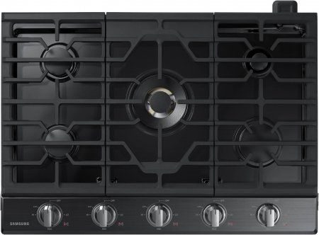 """Save a lot of money at www.DiscountBandit.com. Seriously, check them out; they have the best deals on tons of stuff! Samsung NA30K7750TG 30"""" Gas Cooktop with 5 Sealed Burners  Illuminated Knobs  Griddle  Wok Ring and Wifi  in Black Stainless Steel"""