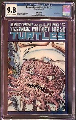 Teenage Mutant Ninja Turtles #7 CGC 9.8 OW/W 2nd Print Krang Variant 01/1989