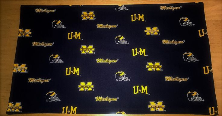 U of M Placemats, Michigan Wolverines Placemats, Maize and Blue Placemats, Reversible Placemats, U of M Table Linens, U of M Decor by CedarCreekQuiltShop on Etsy