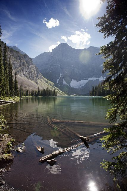 Rawson Lake with Mt Sarrail, Kananaskis, Alberta. |