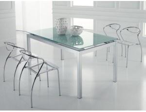 Splash tavolo allungabile in vetro tavolo quadrato for Tavolo vetro satinato