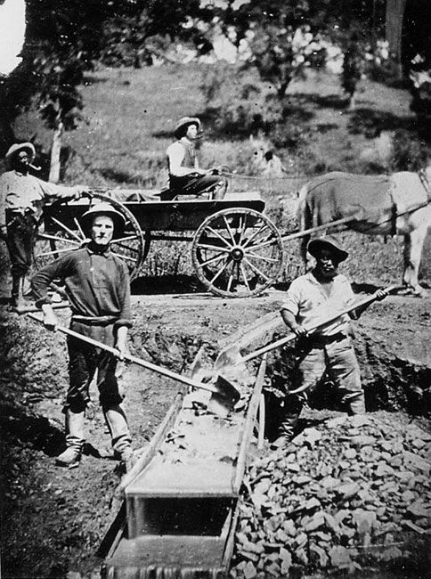 an analysis of the historic event of california gold rush in 19th century Unique case study for exploring nineteenth-century cultural responses to  cultural and social history of the california gold rush echoing white's  last analysis, goldman demonstrated that prostitutes were in fact just as constrained by.