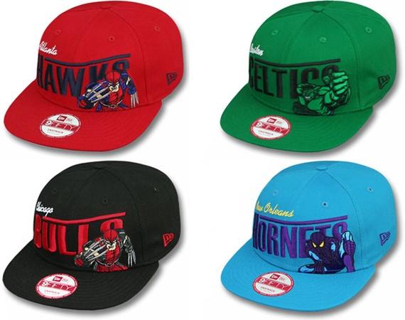 NBA/Marvel New Era CapsNice Hats, Team Heroes, Nba Marvel, Comics Theme, New Era Cap, Articles Worth, Marvel Comics, Heroes Pack, Fashion Stuff