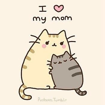Pusheen loves her mom