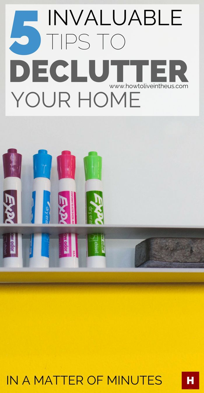 Tired of the way your home looks like? Would you like to clean and completely organize your house in a matter of minutes, but not sure where to start? Check out my 5 golden decluttering tips that work for me each time and help declutter my home right away. www.howtoliveintheus.com