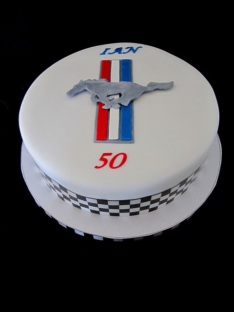 Ford Mustang Logo Cake by Cake Lustre, via Flickr  love the clean look!