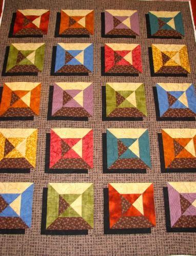 Karen's Square Shadow Quilt