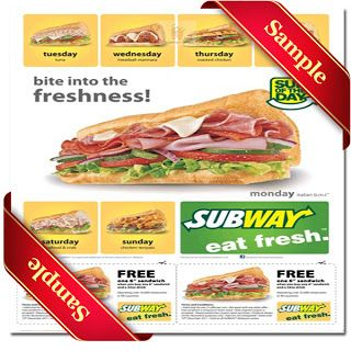 Printable subway Coupon December 2014